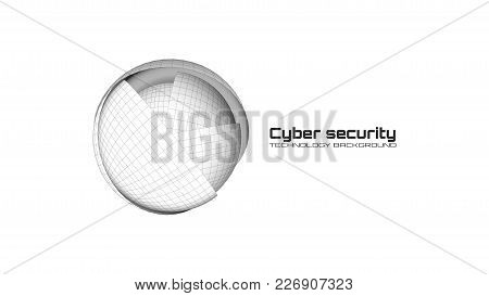 Cyber Security And Information Protection. Protect Mechanism, System Privacy Icon Isolated On White