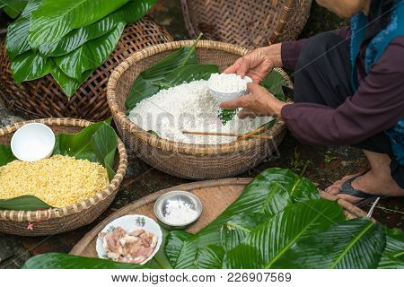 Ingredients To Make Chung Cake, The Vietnamese Traditional Lunar New Year Food