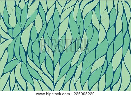 Abstract Background Hands Drawn. Chaotic Waves. Vector