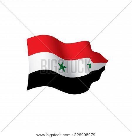 Syria Flag, Vector Illustration On A White Background