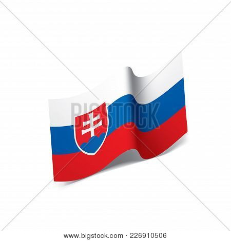 Slovakia Flag, Vector Illustration On A White Background