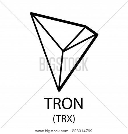 Cryptocurrency Tron Symbol Isolated On White Background
