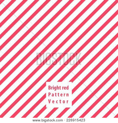 Bright Red Lines Seamless Pattern. Vector Illustration.