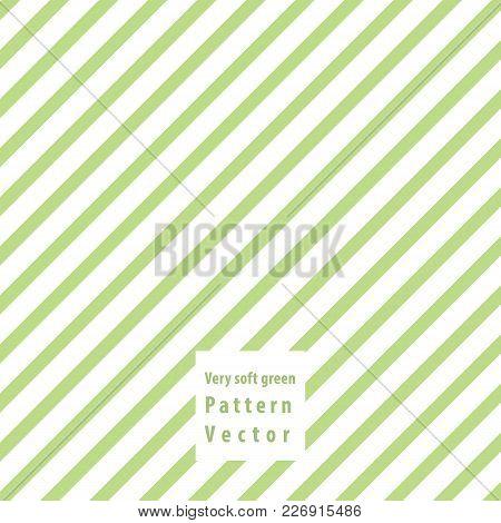 Soft Green Lines Seamless Pattern. Vector Illustration.
