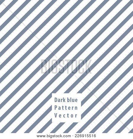 Dark Blue Lines Seamless Pattern. Vector Illustration.