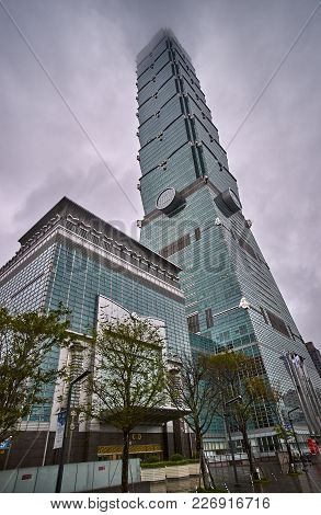 Taipei, Taiwan - November 14, 2017: Taipei 101 Tower On 14 November 2017 In Taipei, Taiwan. The 509,