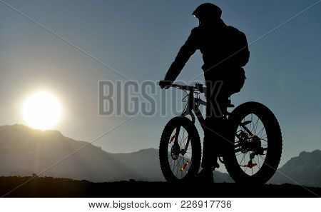 Bicycle Sports, Reconnaissance, Landscape And Health ;sunrise And Sport