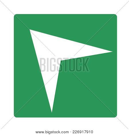 Pointer, Arrow In Modern Flat Style. Arrow Vector Button Isolated On White Background. Symbol For We
