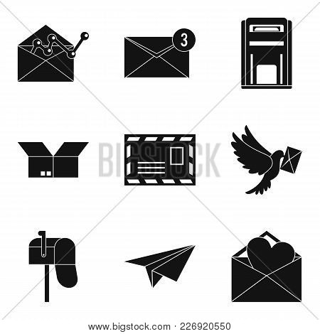 Mailing List Icons Set. Simple Set Of 9 Mailing List Vector Icons For Web Isolated On White Backgrou