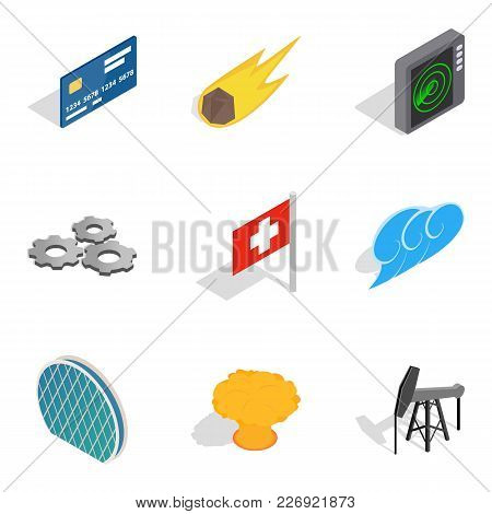 Clean Energy Icons Set. Isometric Set Of 9 Clean Energy Vector Icons For Web Isolated On White Backg