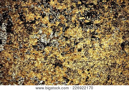 Gold Color Grunge Stained On Cement Wall, A Close Up Image Of A Grunge Stained On A Cement Wall Pres