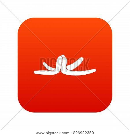Banana Skin Icon Digital Red For Any Design Isolated On White Vector Illustration