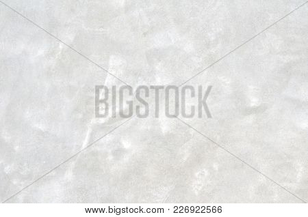 Abstract Texture On Cement Wall Surface, Closeup Photo Image On Surface Of Light Gray Cement Wall Pr