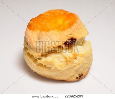 Isolate Raisin Cheese Scone In A Side View