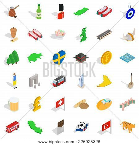 Variety People Icons Set. Isometric Set Of 36 Variety People Vector Icons For Web Isolated On White