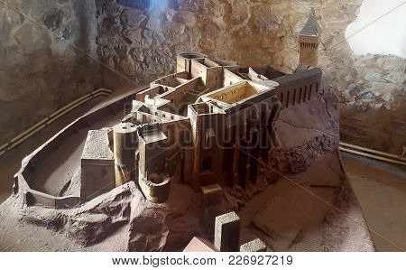 Corvin, Romania - July 22, 2017: Model Of Corvin Castle In Romania