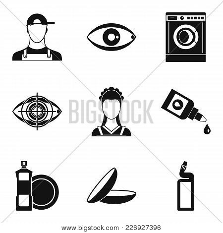 Pro Icons Set. Simple Set Of 9 Pro Vector Icons For Web Isolated On White Background