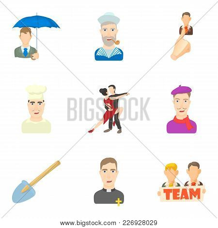 Scholar Icons Set. Cartoon Set Of 9 Scholar Vector Icons For Web Isolated On White Background