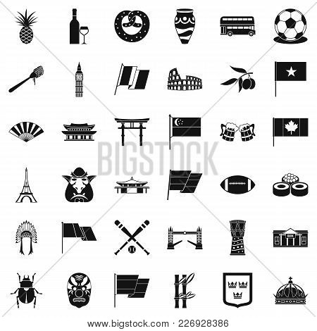 Nationwide Icons Set. Simple Set Of 36 Nationwide Vector Icons For Web Isolated On White Background