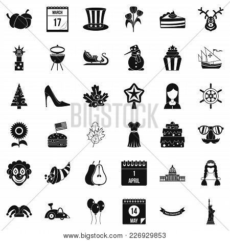 Folklore Holiday Icons Set. Simple Set Of 36 Folklore Holiday Vector Icons For Web Isolated On White