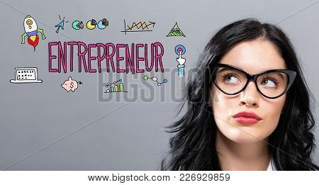 Entrepreneur With Young Businesswoman In A Thoughtful Face