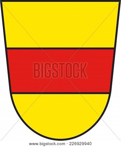 Coat Of Arms Of Werne Is A Town In The Federal State Of North Rhine-westphalia In The Unna District