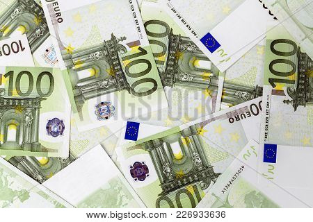 Background Of Money, Bills In Euro Currency