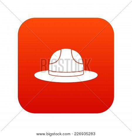 Canadian Hat Icon Digital Red For Any Design Isolated On White Vector Illustration