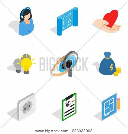 Quality Assurance Icons Set. Isometric Set Of 9 Quality Assurance Vector Icons For Web Isolated On W