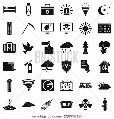 Natural Task Icons Set. Simple Set Of 36 Natural Task Vector Icons For Web Isolated On White Backgro