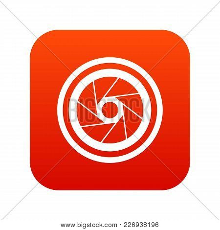 Big Objective Icon Digital Red For Any Design Isolated On White Vector Illustration