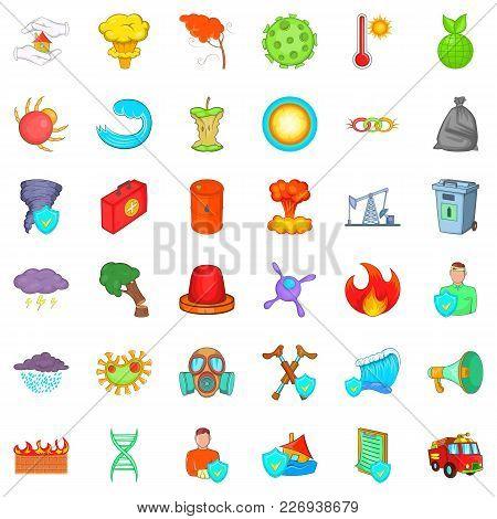 Backwoods Icons Set. Cartoon Set Of 36 Backwoods Vector Icons For Web Isolated On White Background