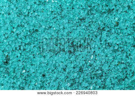 Sea Salt Background. Texture Turquoise Salted Crystals.