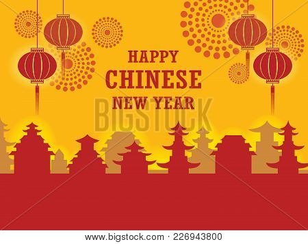 Chinese Paper Cut Style Chinese New Year Background, Creative Flat Design Greeting Card Template. Fi