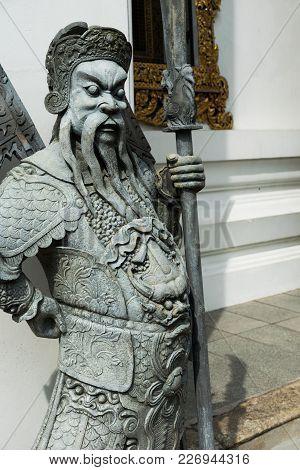 Chinese Style Sculpture And Thai Art Architecture In Wat Phra Chetupon Vimolmangklararm (wat Pho) Te