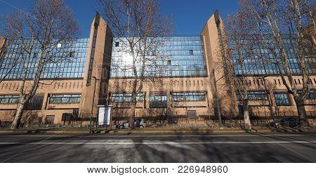 Turin, Italy - Circa February 2018: Palazzo Di Giustizia Meaning Courthouse