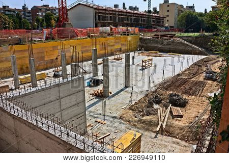 Masonry Work, Excavation And Foundation For Building Construction