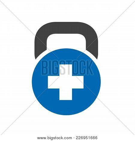 Positive, Plus, Fitness, Gym Logo Vector Illustration