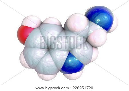 Serotonin Molecule, Monoamine Neurotransmitter, Primarily Found In The Gastrointestinal Tract, The C