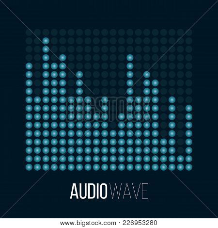 Sound Wave Abstract Background. Audio Digital Vector Illustration