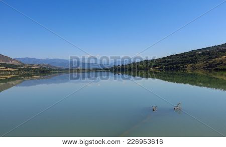 Terradets Reservoir, In The Catalan Pyrenees, Spain