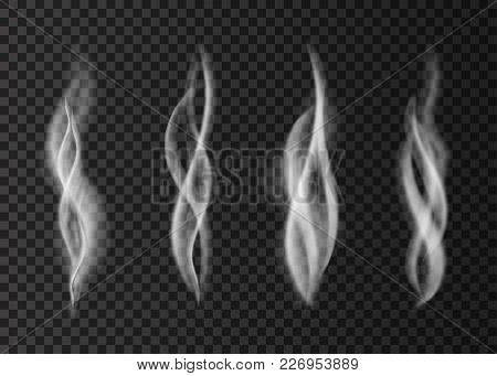 Realistic Smoke Isolated On Transparent Background.