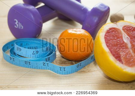 Different Fitness And Street Workout Objects. Fitness Objects On The Table. Fitness And Street Worko