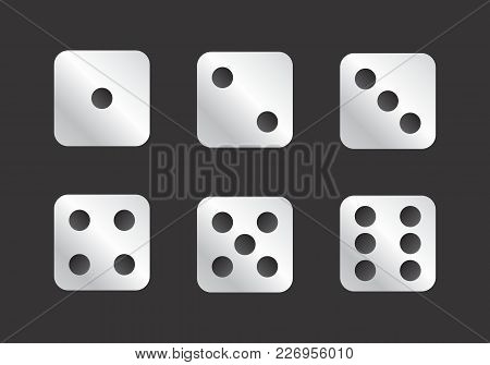 Illustration Of The Faces Of Dice Showing Numbers 1 To 6