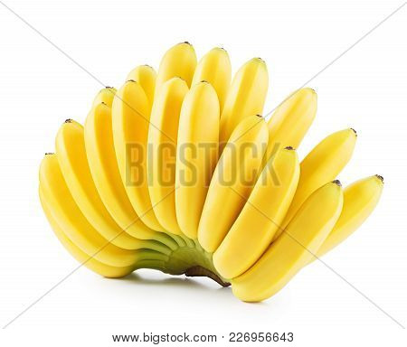 Bananas. Bunch Of Fruit  Isolated On A White Background
