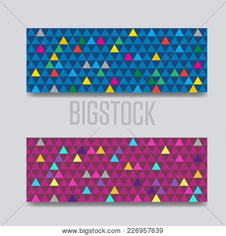 Triangle Seamless Pattern Vector Illustration. You Can Use Web App And Other