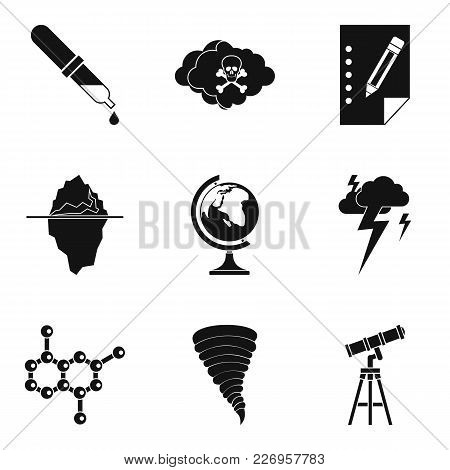 Scientific Research Icons Set. Simple Set Of 9 Scientific Research Vector Icons For Web Isolated On