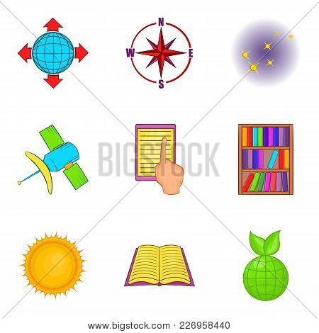 Research Project Icons Set. Cartoon Set Of 9 Research Project Vector Icons For Web Isolated On White
