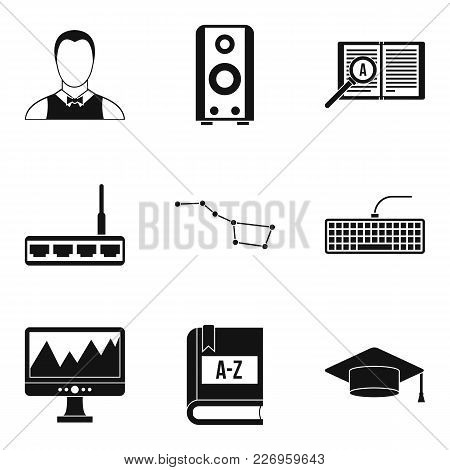 Researcher Science Icons Set. Simple Set Of 9 Researcher Science Vector Icons For Web Isolated On Wh