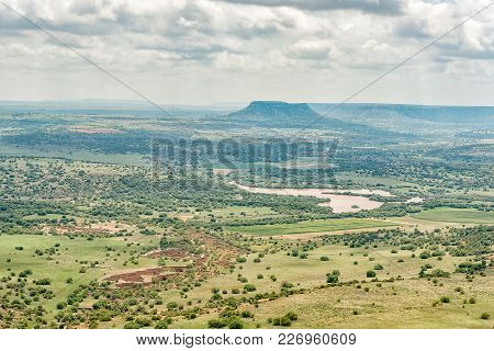 The View Towards The North-east From The Koranna Mountain Near Excelsior. An Erosion Gorge And Dam A